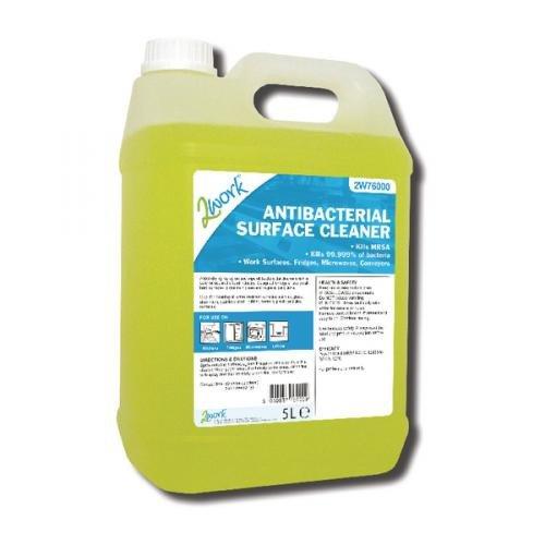 2Work Antibacterial Surface Cleaner 5 Litre Bulk Bottle 242