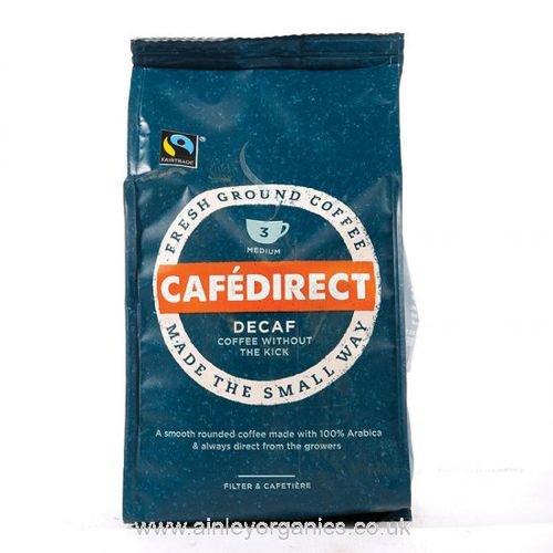 Cafe Direct Decaffeinated Coffee Roast & Ground 227g