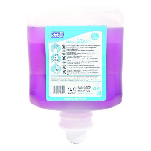 DEB Relax Calming Foam Hand Wash 1 Litre Cartridge Pack of 6