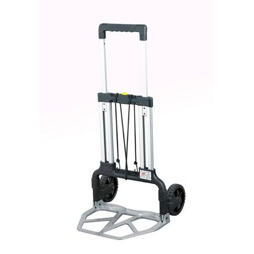 Telescopic Folding Sack Truck Capacity 125Kg Silver Open H1110xW520xD510mm Closed H770xW500xD65mm