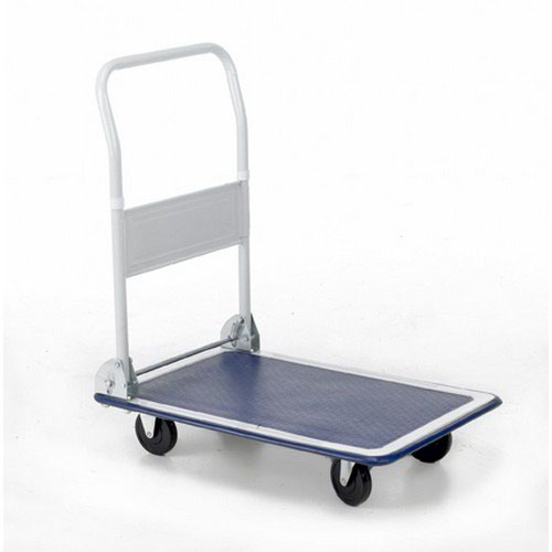 Folding Flatbed Trolleys Capacity 300Kg Open H870xW608xD907mm Folded H285mm Wheels/Castors 125mm