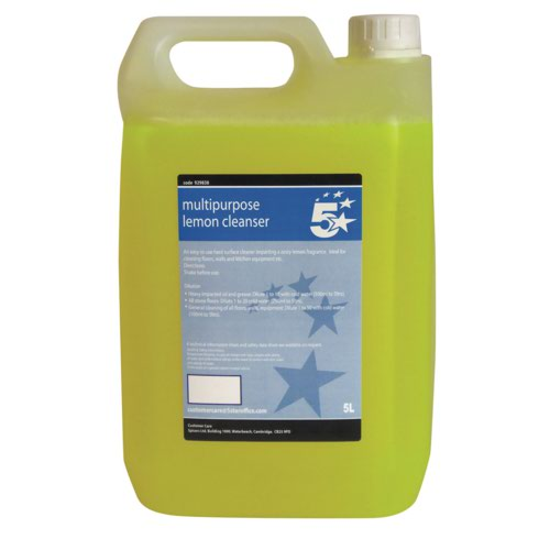 5 Star Lemon Concentrated Multipurpose Cleaner 5 Litre