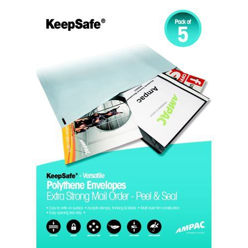 Keepsafe LightWeight Envelope Clear No Print C5 W162xH230mm Peel & Seal Pack 100