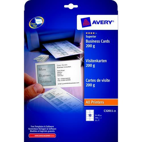 Avery Business Cards Laser Pack 25