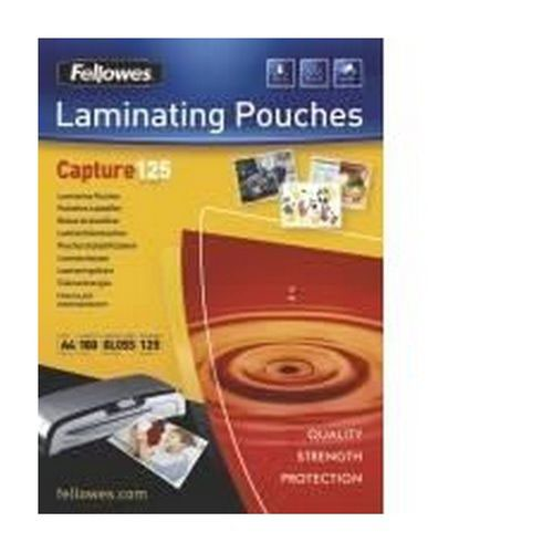Fellowes Glossy Laminating Pouches 125 microns A5 Box 100