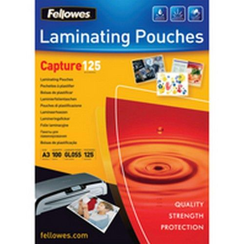 Fellowes A3 125 Micron Laminating Pouches Pack 100