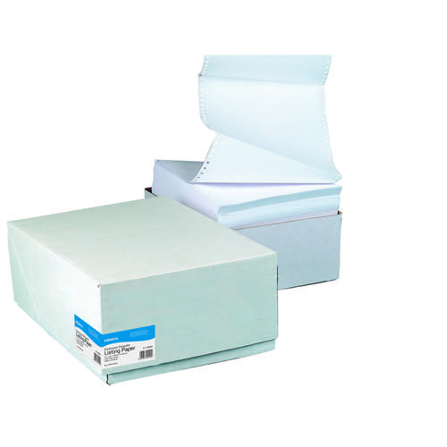 Initiative Listing Paper 11x241mm 2 Part Plain NCR 60gsm Pack 1000