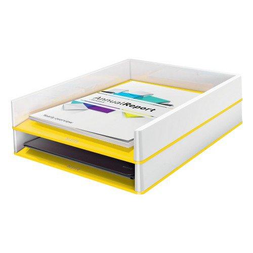 Leitz Letter Tray WOW Duo Colour White/Yellow