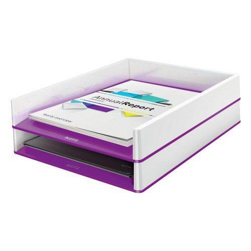 Leitz Letter Tray WOW Duo Colour White/Purple
