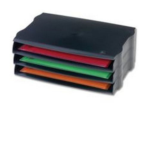 Avery Desktop Range Wide Entry Stackable Letter Tray Set w243xd45xh362mm Black
