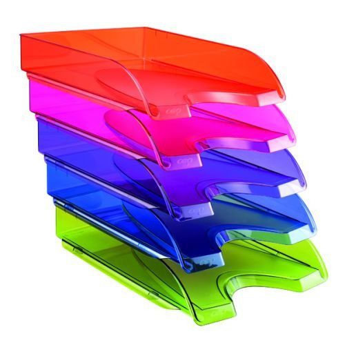 Happy by CEP Pack of 5 Multicolour Letter Trays