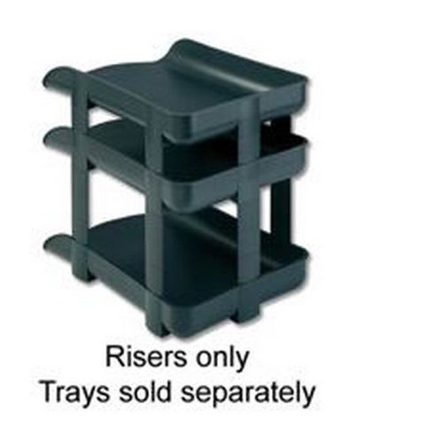 Rexel Agenda2 Letter Tray Risers Charcoal