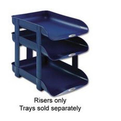 Rexel Agenda2 Letter Tray Risers Blue