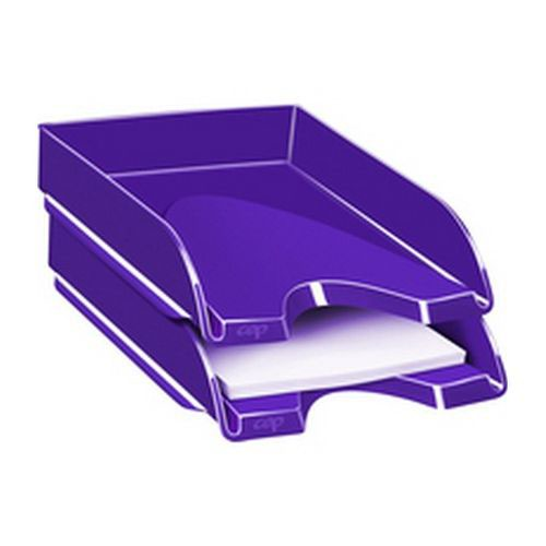 CEP Pro Gloss Letter Tray Will Hold Documents Up To 240 x 320mm In Size 100% Recyclable Purple