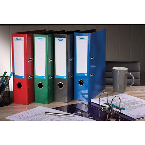 Elba Classy Lever Arch File A4 Red & Free Divider
