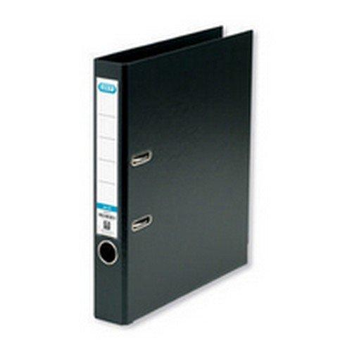 Elba A4 50mm Slim Black Plastic Lever Arch Files