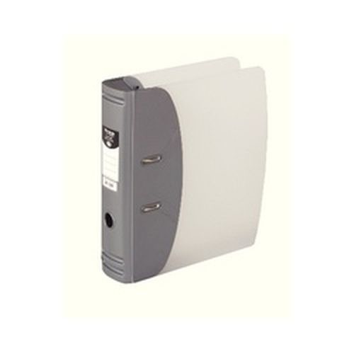 Hermes A4 8cm Heavy Duty Lever Arch File Silver