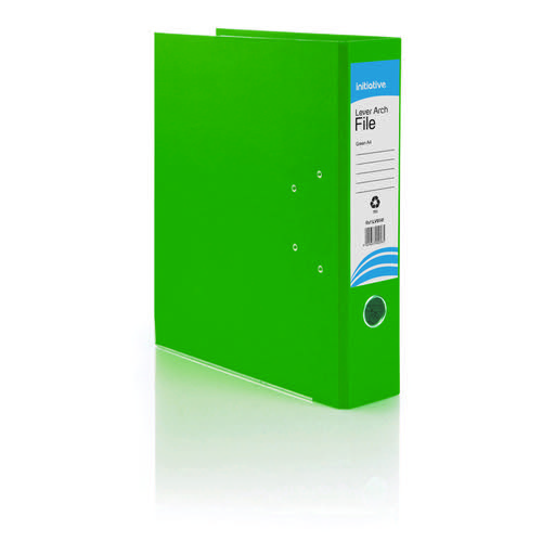 Initiative Lever Arch File A4 Green Metal Shoe and Thumbring