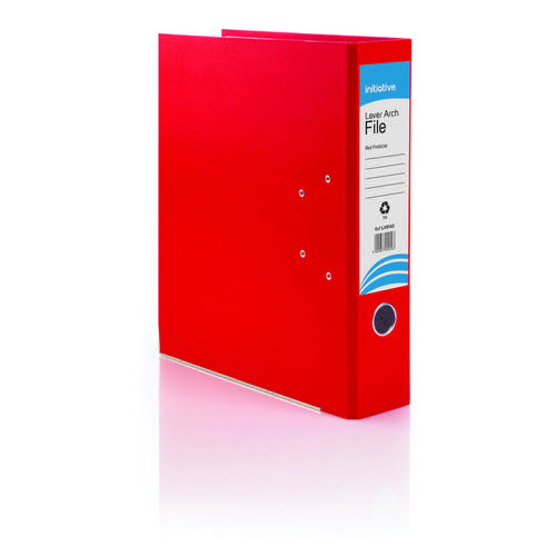 Initiative Lever Arch File Foolscap Red Metal Shoe and Thumbring