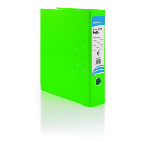 Initiative Lever Arch File Foolscap Green Metal Shoe and Thumbring