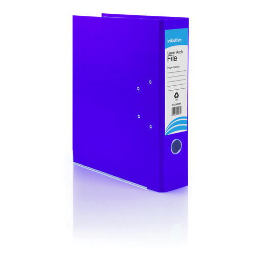 Initiative Lever Arch File Foolscap Purple Metal Shoe and Thumbring