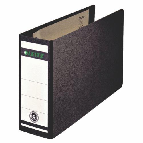 Leitz Leverarch File 180° A5 Landscape Paper On Board Black Pack 5