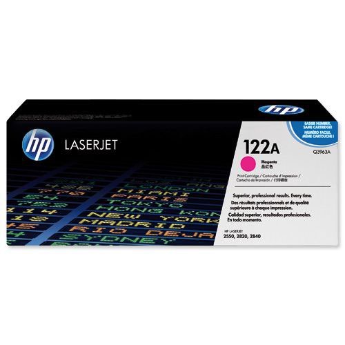 Hewlett Packard LaserJet 2500/2550 Smart Print Cartridge Up to 4000 Pages Magenta Q3963A