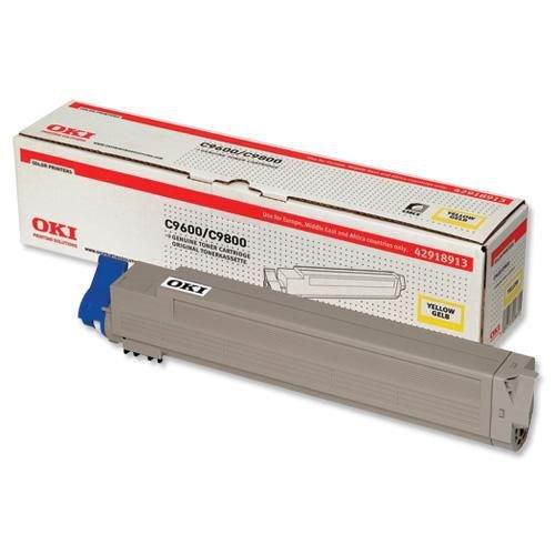 Oki C96/9800 Toner 15K Yellow 42918913