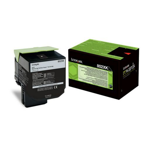 Lexmark 802Xk Toner Cartridge Black