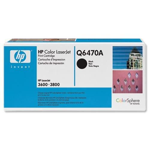 Hewlett Packard Laser Toner Cartridge Black Q6470A