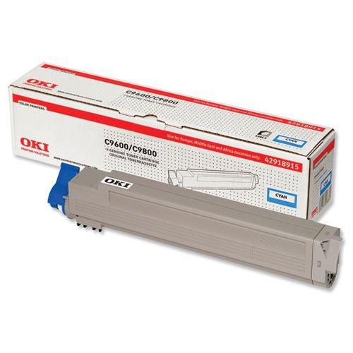 Oki C9600/C9650/C9800/C9850 Toner Cartridge Cyan 42918915