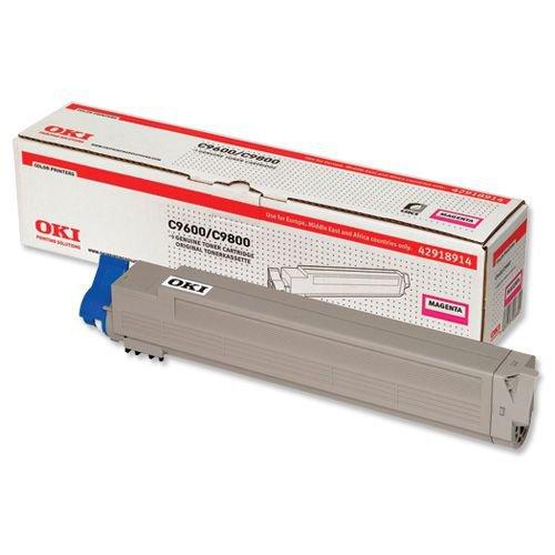 Oki C9600/C9650/C9800/C9850 Toner Cartridge Magenta 42918914