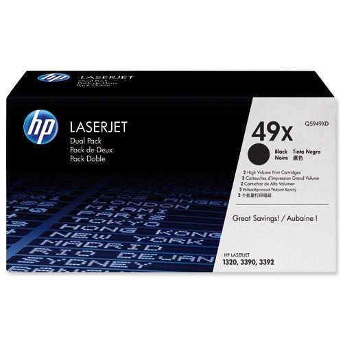 Hewlett Packard Toner Cartridge High Capacity Black Pack 2 Q5949XD