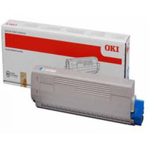 Oki 44844507 10K Pages Cyan Toner Cartridge