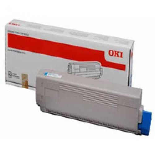Oki 44844615 7.3K Pages Cyan Toner Cartridge