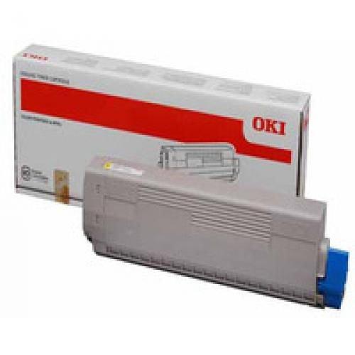 Oki 44844613 7.3K Pages Yellow Toner Cartridge