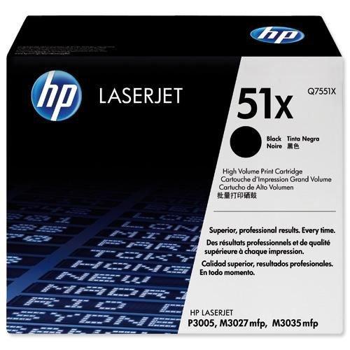 Hewlett Packard Laser Toner Cartridge High Yield Black Q7551X