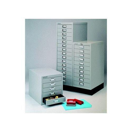 Bisley 15 Drawer Multidrawer Cabinet Non Locking 39 Inches Goose Grey