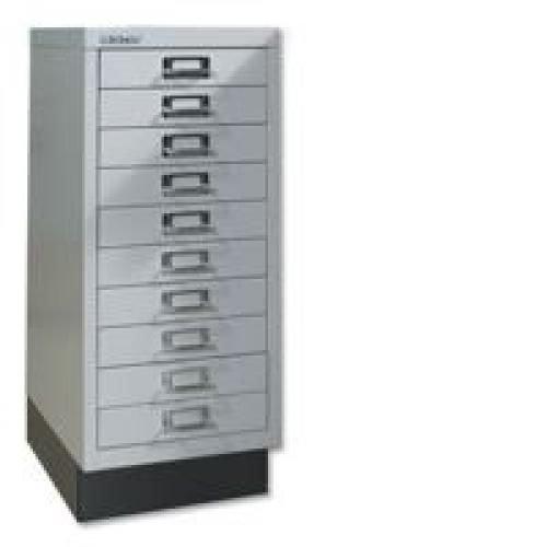 Bisley 10 Drawer Multidrawer Cabinet Non Locking 29 Inches Goose Grey