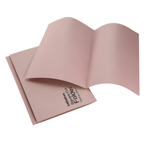 Initiative Square Cut Folders Mediumweight 250gsm Foolscap Buff