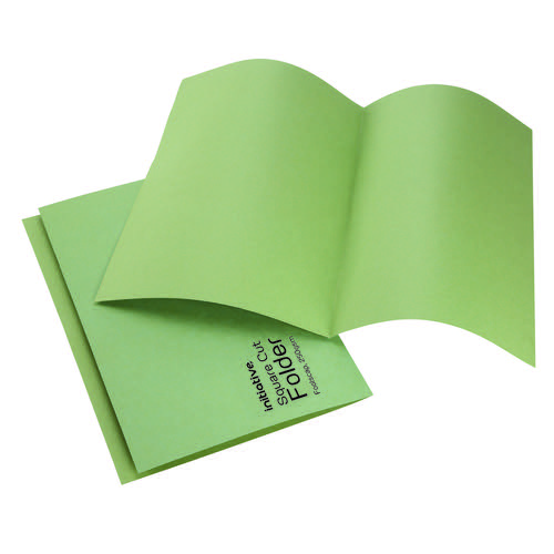 Initiative Square Cut Folders Mediumweight 250gsm Foolscap Green