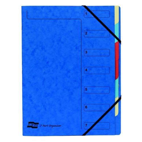 Europa 12 Part Organisers Blue