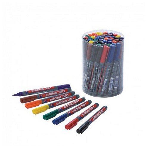 Edding 361 Drywipe Markers Classpack Assorted Pack 50
