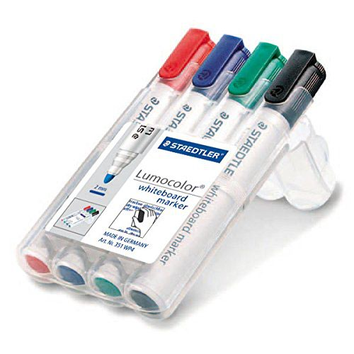 Steadtler Lumcolor Whiteboard Markers Pack Of 4 Assorted