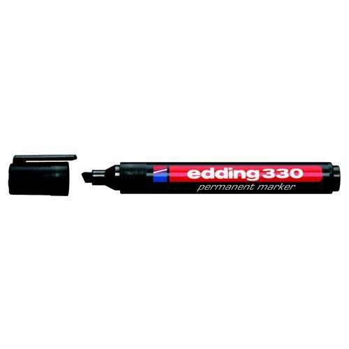 Edding Permanent Marker 330 Chisel Tip Black