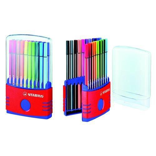 Stabilo Pen 68 Fibre Tip Pens ColourParade Assorted Pack of 20