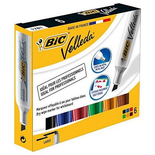 Bic Velleda 1781 Whiteboard Chisel Marker Assorted Pack 6