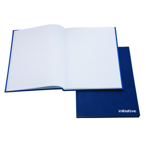 Initiative Manuscript Book Feint Ruled 190 pages A5 70gsm Blue