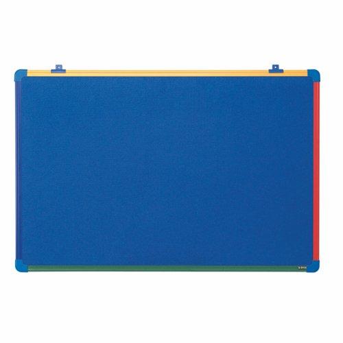 Bi-Office Schoolmate Blue Felt Board 60 X 90 Mm Multicoloured Frame