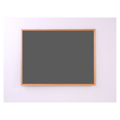 Eco-Sound Light Oak MDF Wood Frame 2400w x 1200h Noticeboard Black